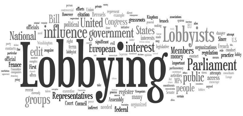 La charte déontologique des lobbyistes français