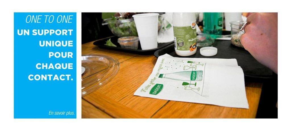 GreenPub met de la publicité sur les serviettes en papier des fast-foods