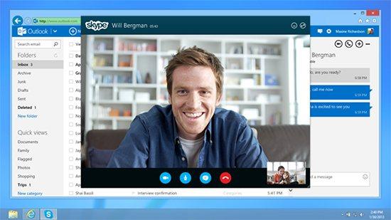 Skype couplé à Outlook