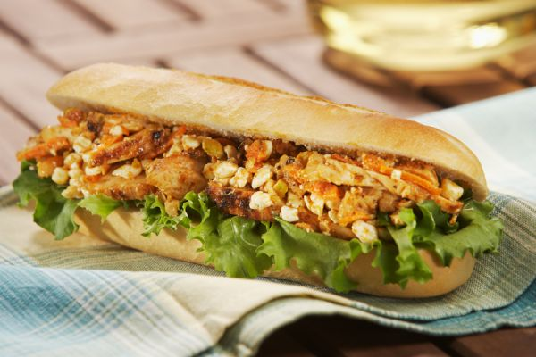 Sandwich poulet curry
