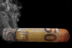 perdre de l'argent en fumée